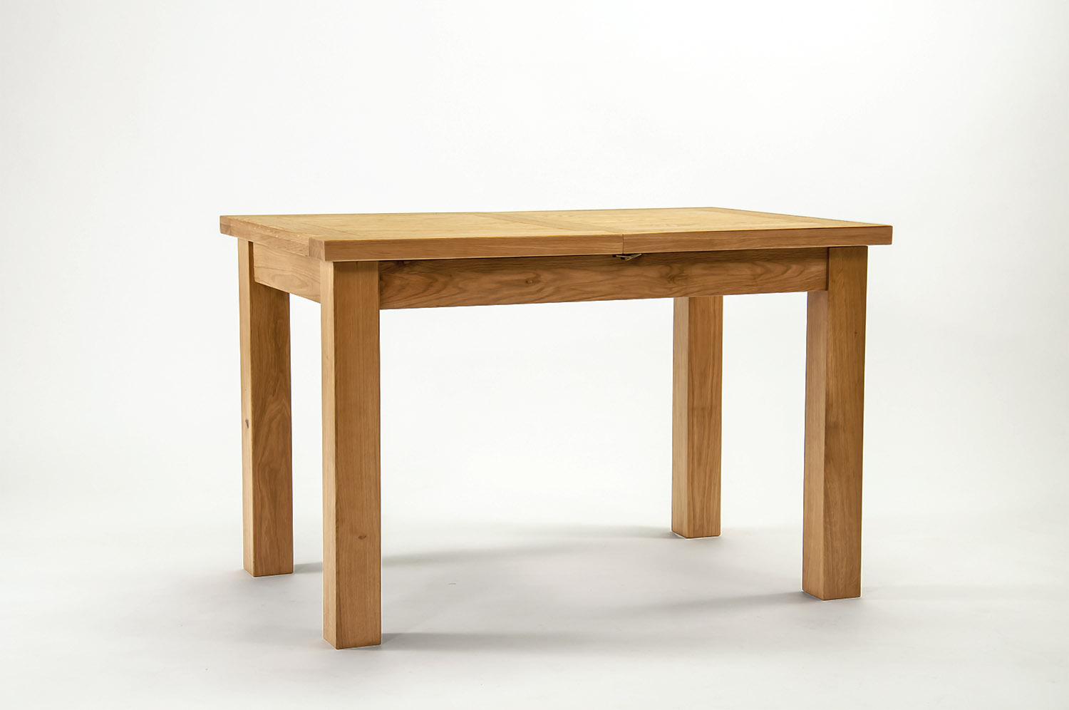 Devon oak extending dining table 120cm 153cm cw for 120cm extending dining table