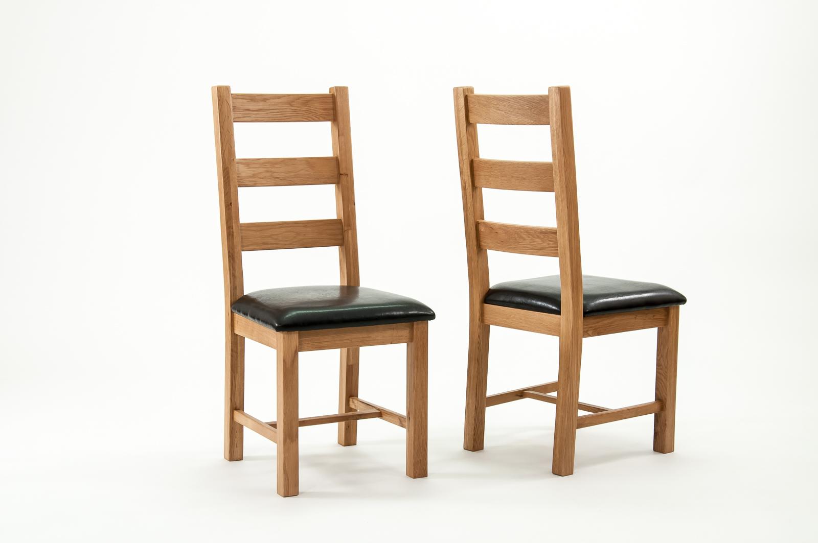 Devon oak richmond dining chairs pair cw furniture