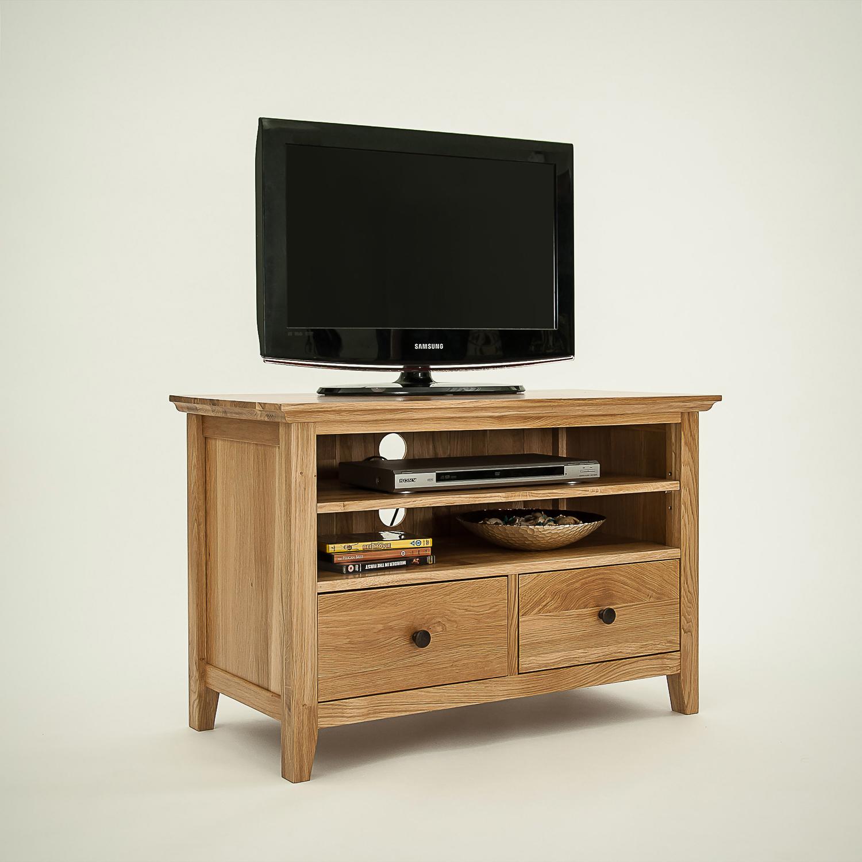 Hereford Rustic Oak Small Tv Unit Cw Furniture