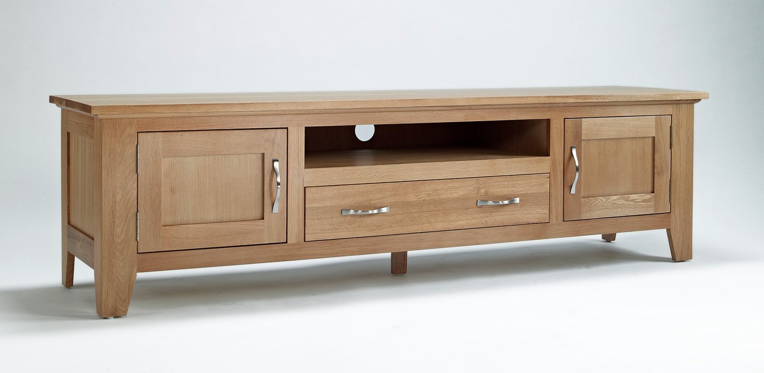 Exceptionnel Sherwood Oak Large TV Unit