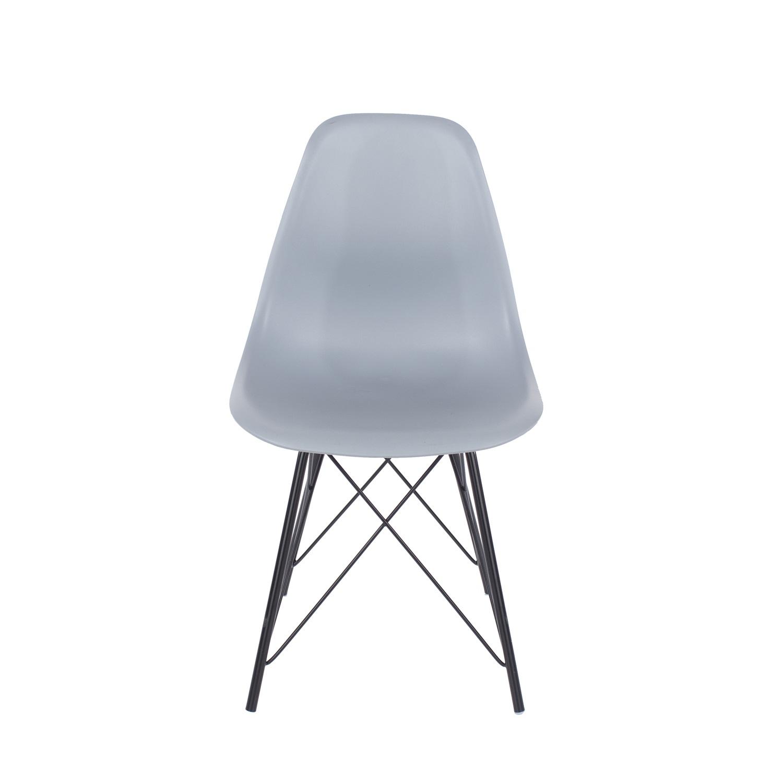 grey plastic chair, black metal legs (order in pairs)