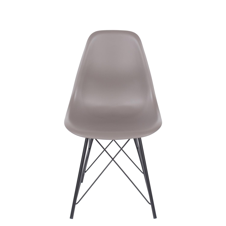 truffle plastic chair, black metal legs (order in pairs)