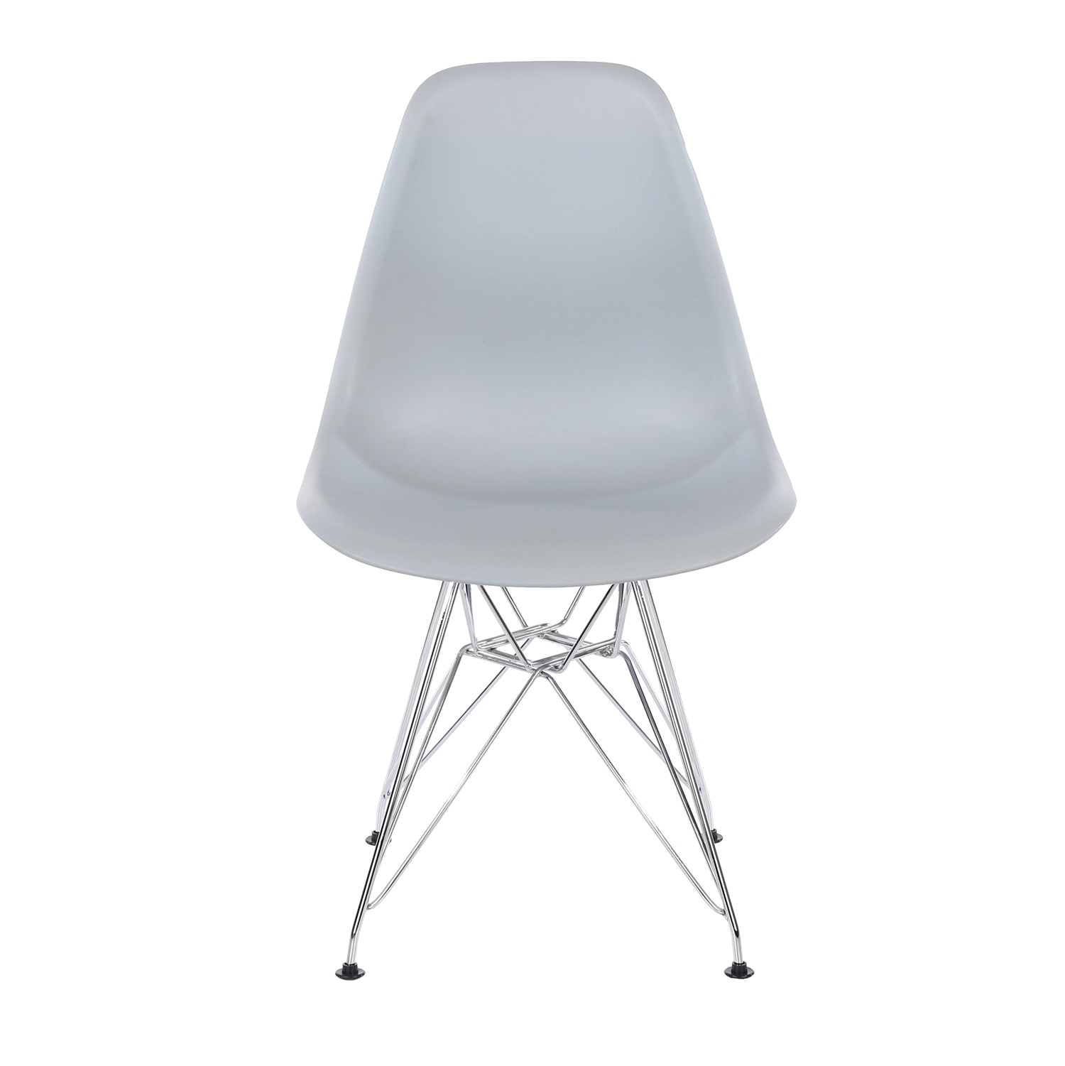 grey plastic chair with chrome legs (order in pairs)