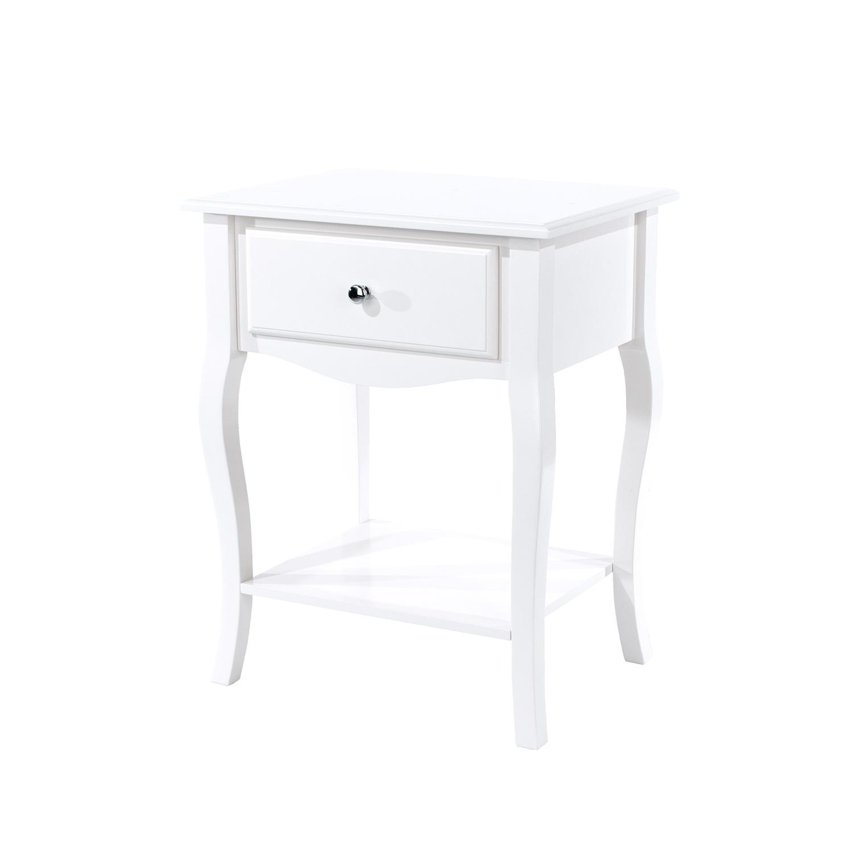 cabriole, 1 drawer bedside cabinet