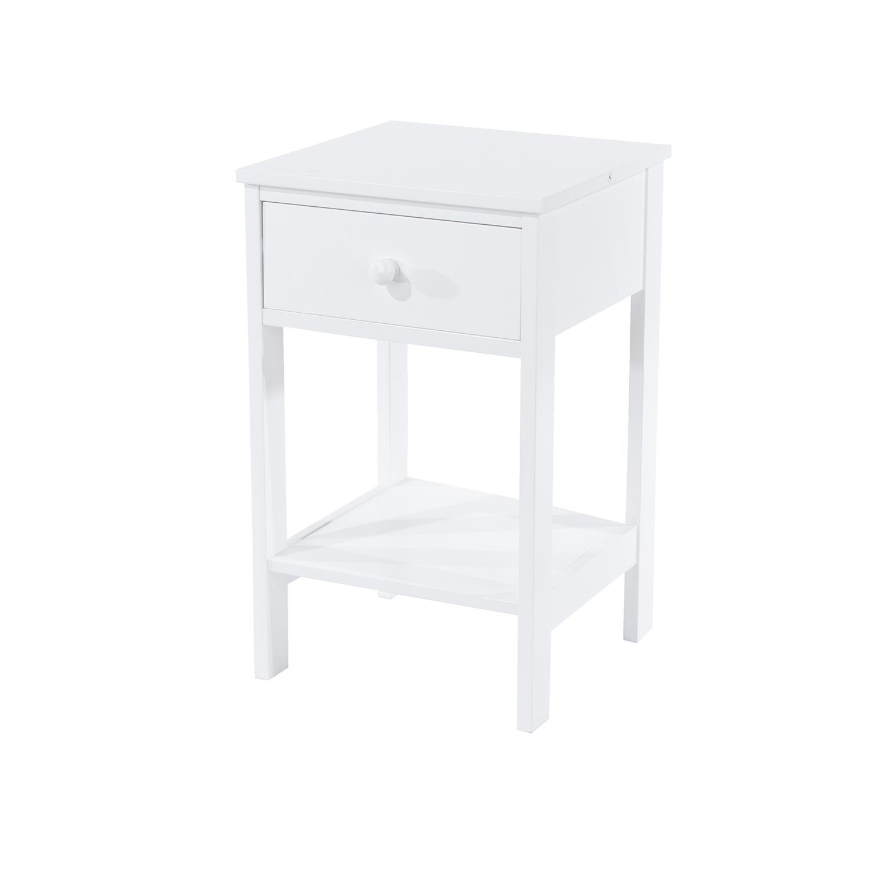 shaker, 1 drawer petite bedside cabinet
