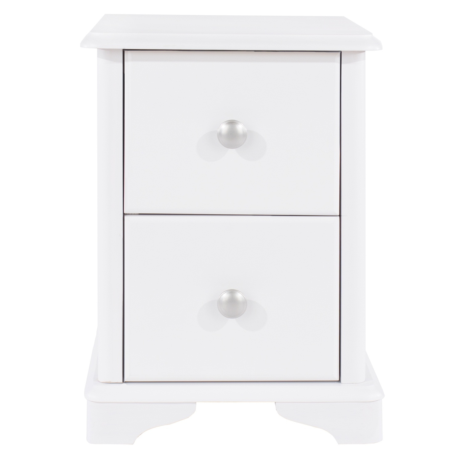 2 drawer compact bedside cabinet