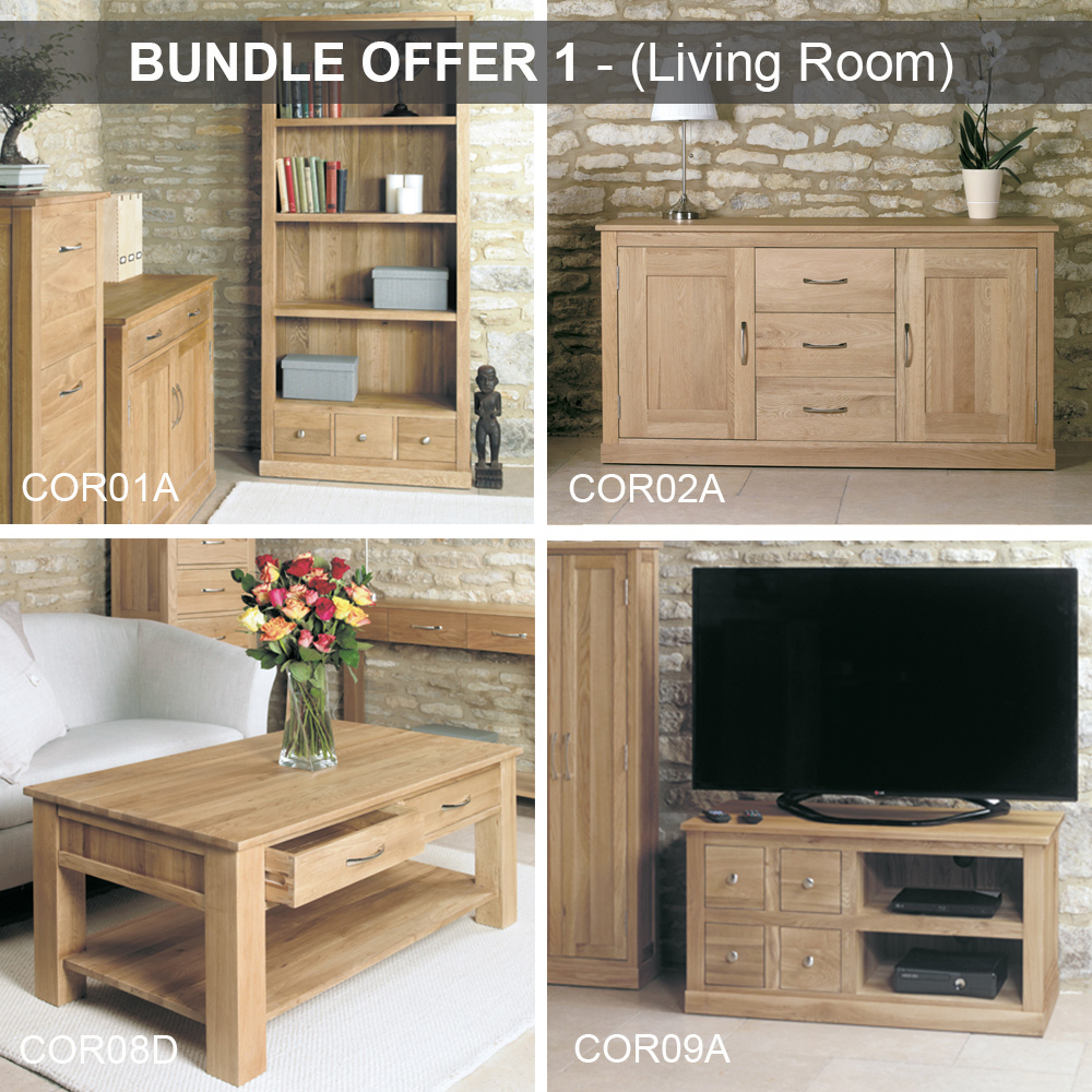 bundle 1 mobel oak living room