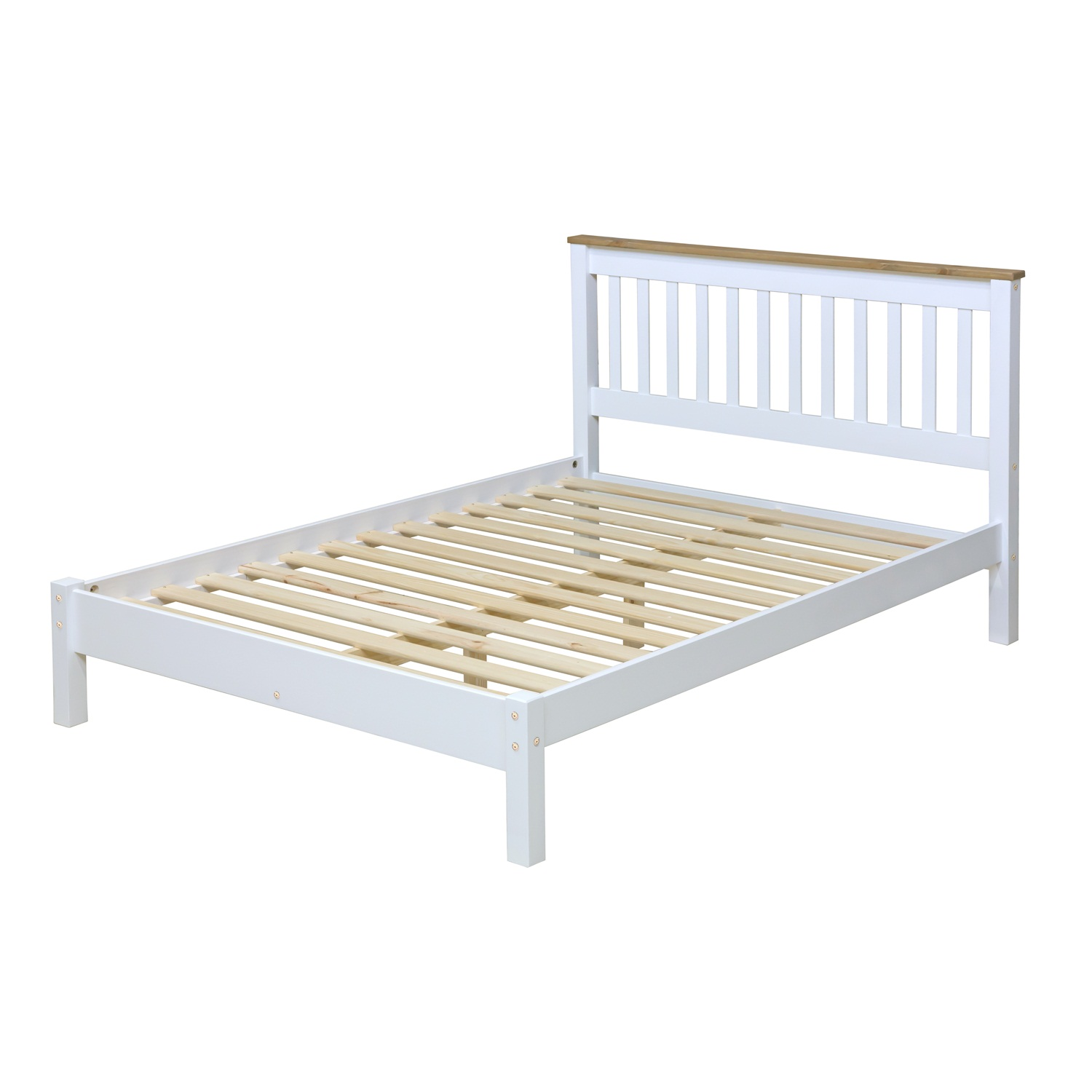 4'6″ slatted lowend bedstead