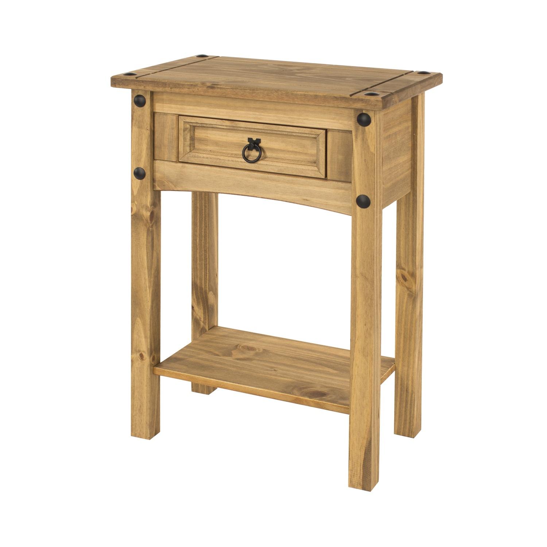 1 drawer hall table with shelf