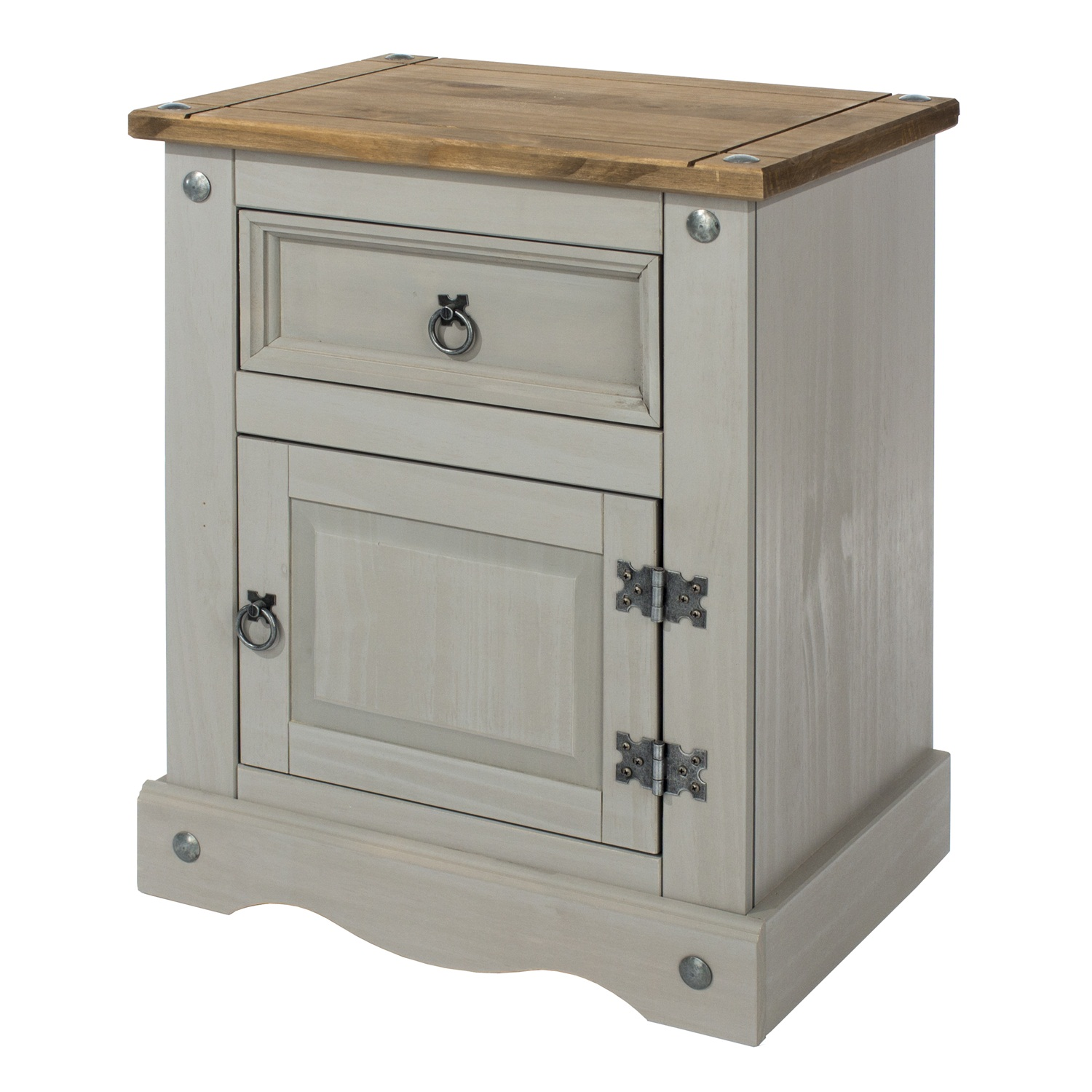 1 door, 1 drawer bedside cabinet
