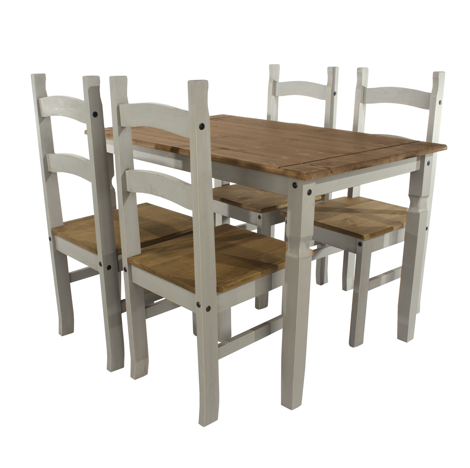 rectangular dining table & 4 chair SET