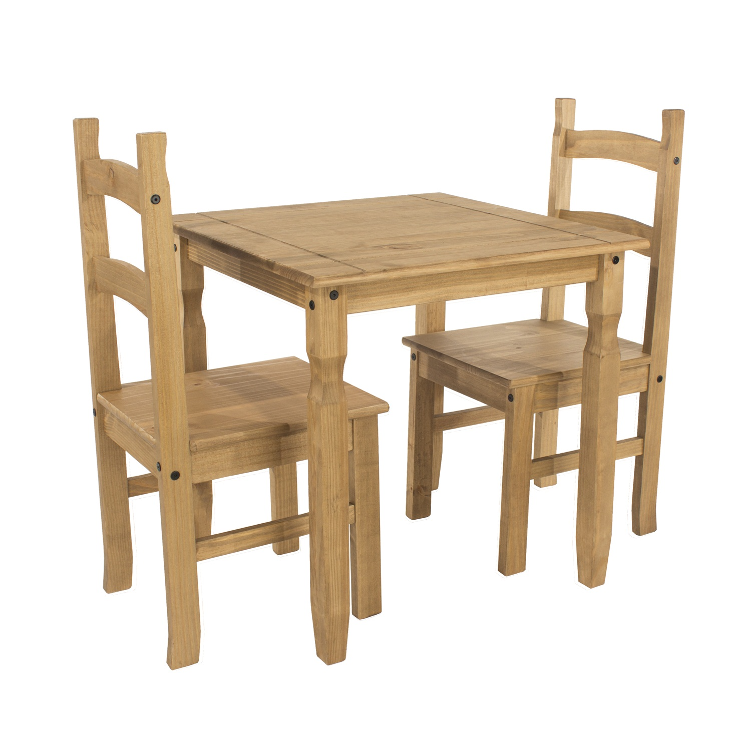 square dining table & 2 chair SET