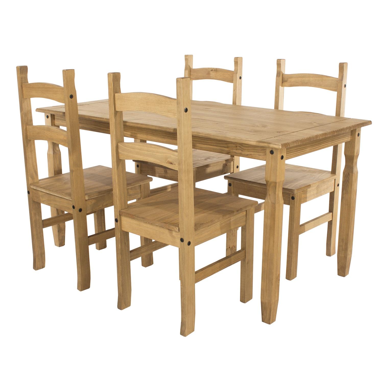 rectangular dining table & 4 chair SET
