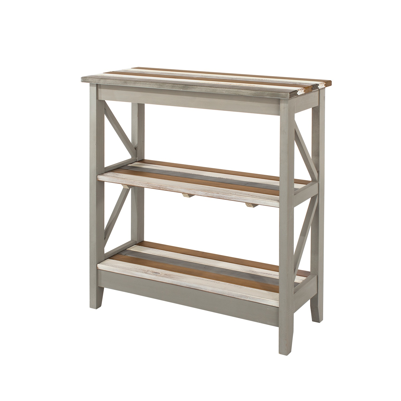 3 tier wide shelf unit