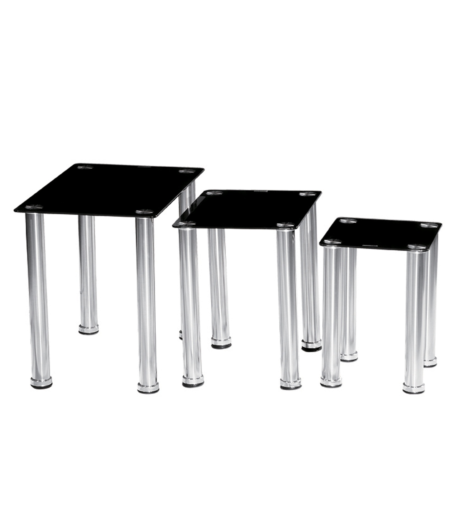 Crystal Nest of Tables Black