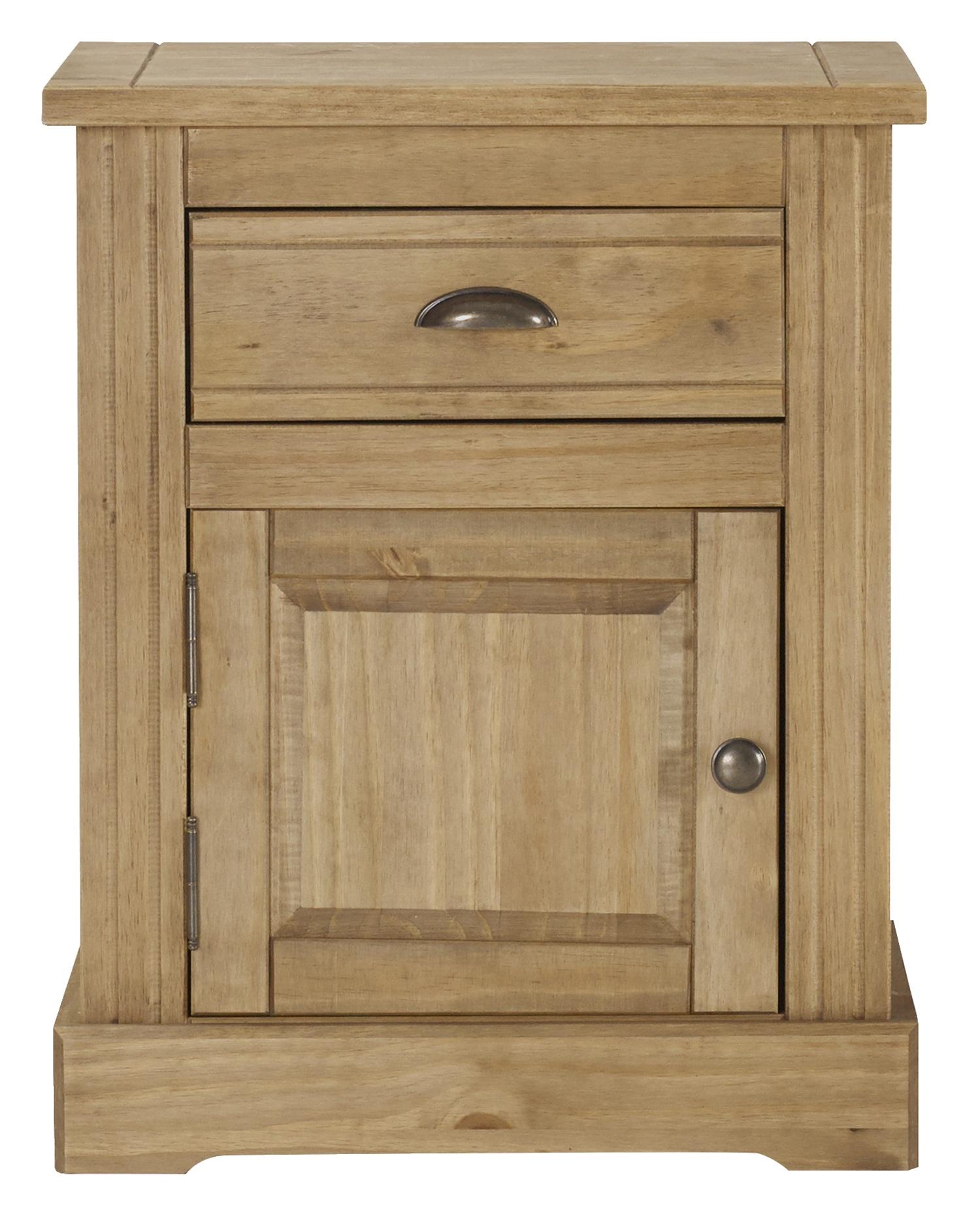 1 drawer, 1 door bedside cabinet
