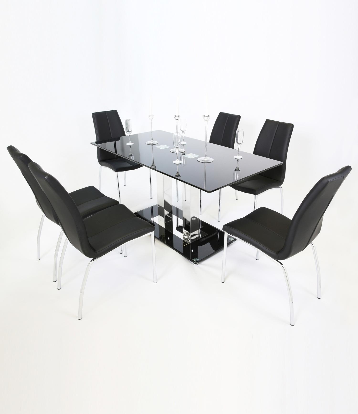 Holly (160cm Straight Leg) Dining Table Black