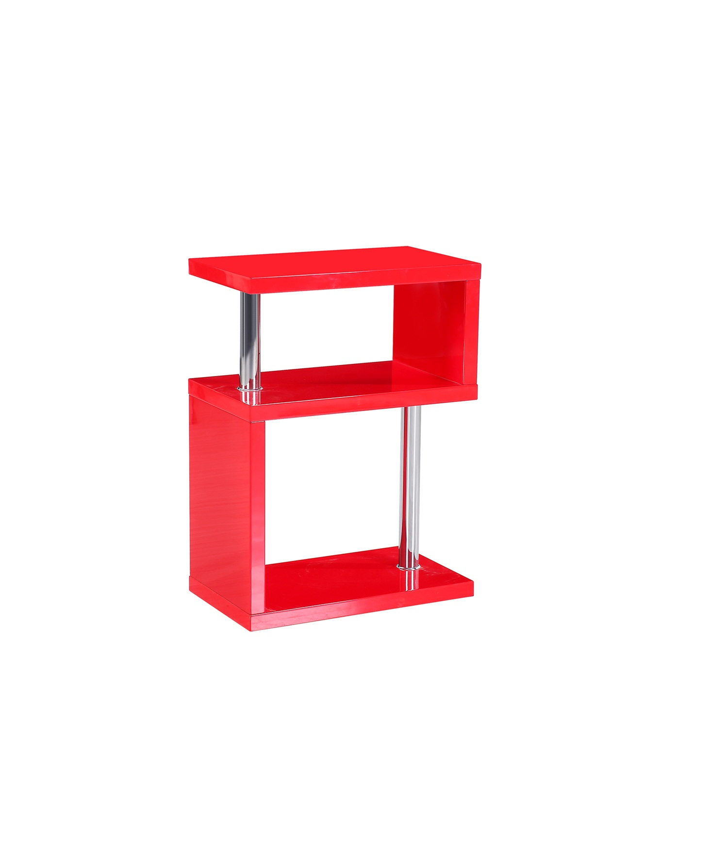 Miami  3 Tier Shelving Unit Red